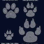Paw, dog paw rhinestone template digital download, svg, eps, png, dxf SS10