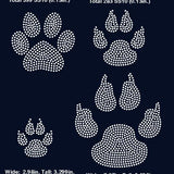 Paw, dog paw rhinestone template digital download, svg, eps, png, dxf - rhinestone templates