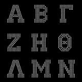 Bold greek letters Alphabet digital download, svg, eps, ai, png, dxf rhinestone template - rhinestone templates