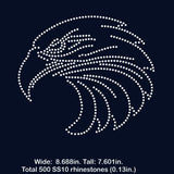 Eagle rhinestone template digital download, svg, eps, png, dxf - rhinestone templates