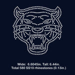 Tiger face rhinestone template digital download, svg, eps, png, dxf SS10