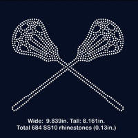Lacrosse rhinestone template digital download, svg, eps, png, dxf - rhinestone templates