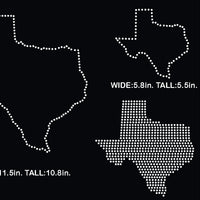 Texas state rhinestone templates svg, eps, png, dxf... - rhinestone templates