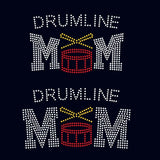 Drumline MOM rhinestone template digital download, svg, eps, ai, png, dxf - rhinestone templates