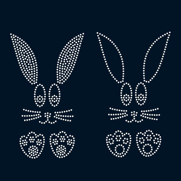 Easter bunny rhinestone template digital download, svg, eps, studio3, png, dxf - rhinestone templates