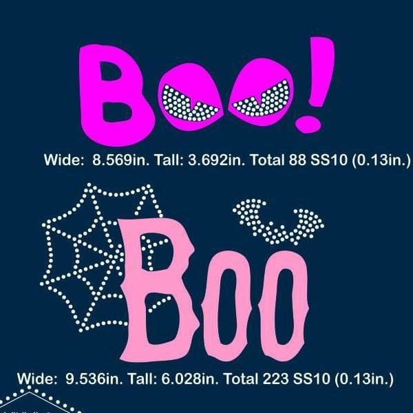 Halloween Boo rhinestone template, svg, eps, png, dxf - rhinestone templates