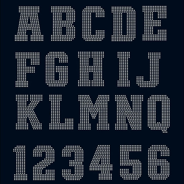 Huge College Sport letters Alphabet and digits digital download, svg, eps, ai, png, dxf rhinestone template - rhinestone templates
