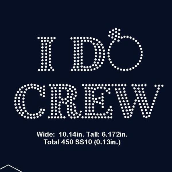 I do crew rhinestone template digital download, svg, eps, png, dxf - rhinestone templates