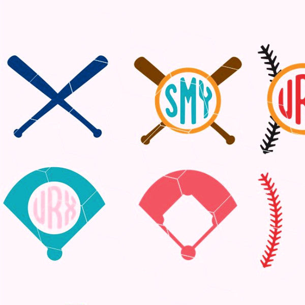 Baseball items, baseball stitch, base, baseball, bat  in svg, dxf, png, eps format - rhinestone templates