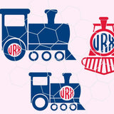 Train, old train, monogram in svg, dxf, png, eps format. Instant download for Cricut and Silhouette Studio - rhinestone templates