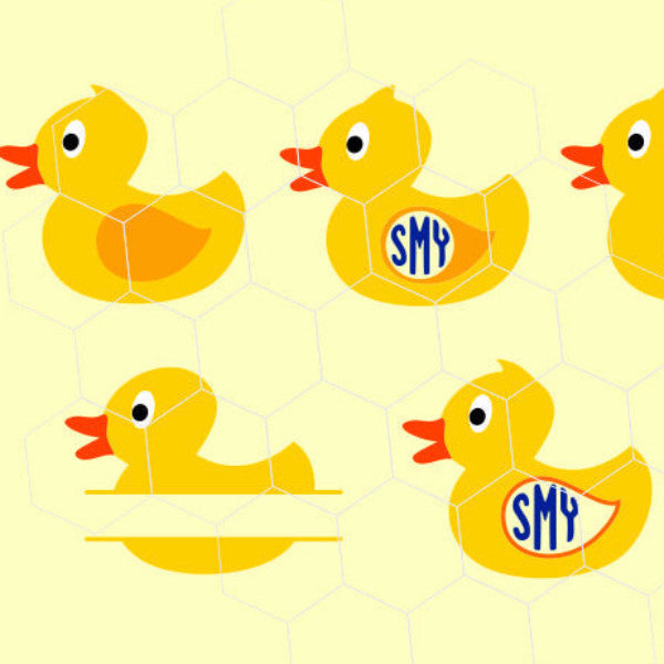 Rubber Duck, Duck, Baby duck,  monogram in svg, dxf, png,format. Instant download for Cricut Design Space and Silhouette Studio - rhinestone templates