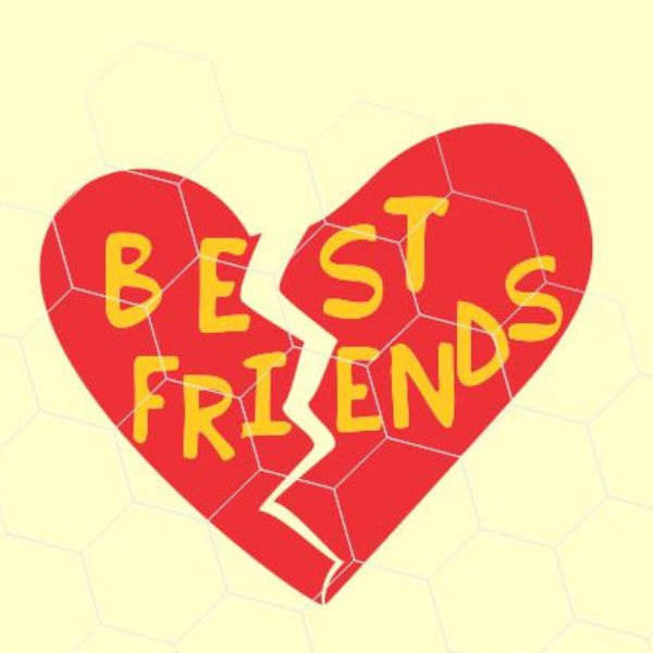 Best Friends Heart Design, Best Friends in svg, dxf, png format - rhinestone templates