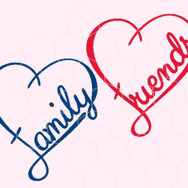 Heart, friends, family, love  in svg, dxf, png, eps format - rhinestone templates