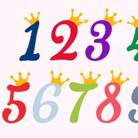 Crown numbers, Birthday numbers, Anniversary,baby, girl, boy, Birthday princess, svg, dxf, png, eps - rhinestone templates