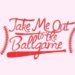 Take me out to the ballgame in svg, dxf, png, eps format. Instant download for Cricut Design Space and Silhouette Studio SS10