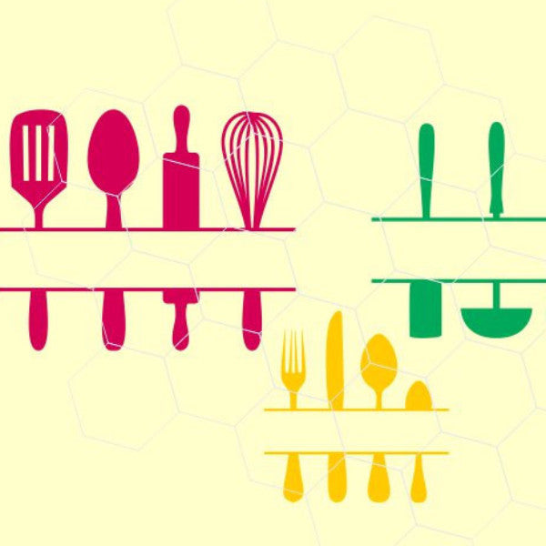 Kitchen Utensils in svg, dxf, png format SS10