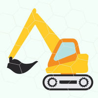 Excavator in svg, dxf, png format - rhinestone templates