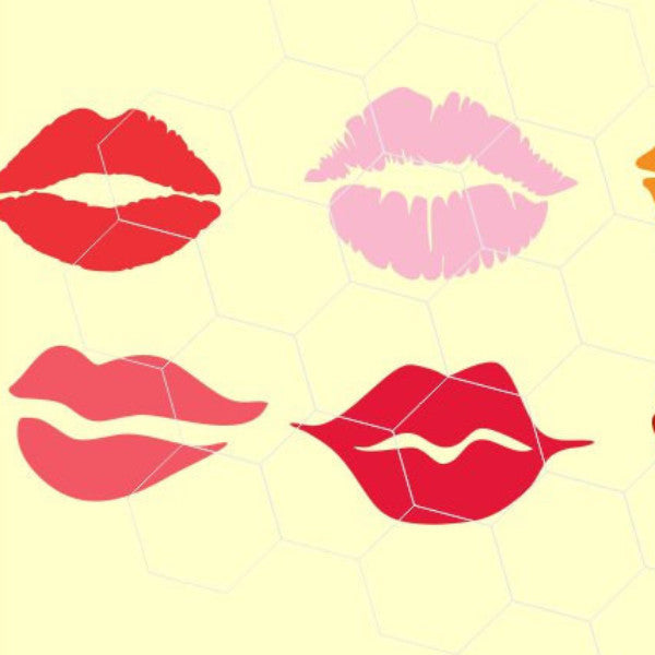 Lips in svg, dxf, png, eps format - rhinestone templates