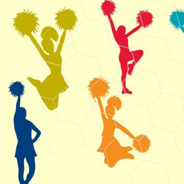 Cheer, Cheerleader in svg, dxf, png, eps format - rhinestone templates
