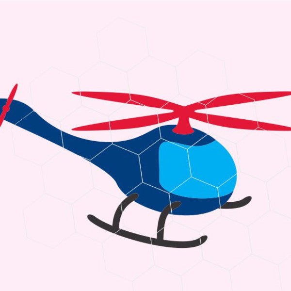 Helicopter in svg, dxf, png, eps format. Instant download for Cricut Design Space and Silhouette Studio - rhinestone templates