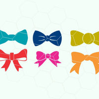 Bows, bow in svg, dxf, png format - rhinestone templates