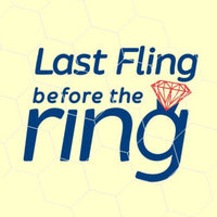 Last fling before the ring in  svg, dxf, png, format. Instant download - rhinestone templates