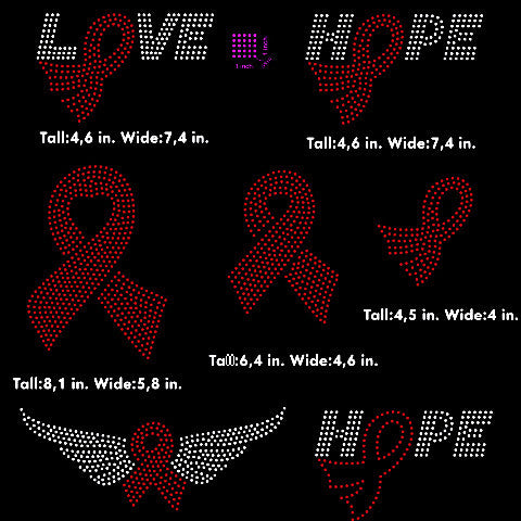 Cancer Awarenes Ribbon, hope, love, wings rhinestone template digital download, svg, eps, png, dxf - rhinestone templates