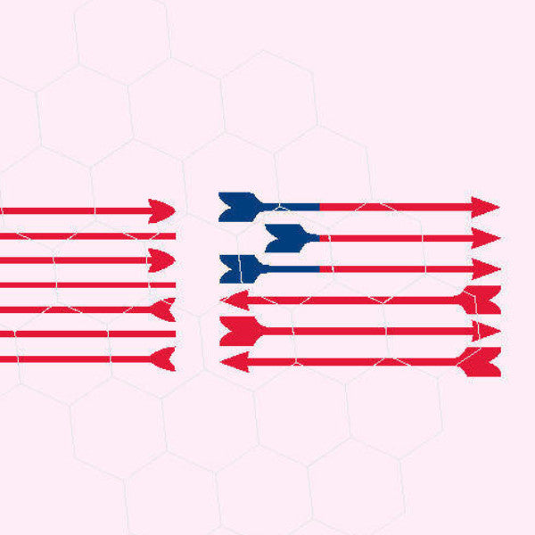 Arrow American flag, July 4, USA, America, Arrows in svg, dxf, png, eps format - rhinestone templates