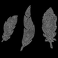 Feather rhinestone template digital download, svg, eps, studio3, png, dxf - rhinestone templates