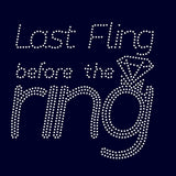 Last Fling before ring rhinestone template digital download, svg, eps, studio3, png, dxf - rhinestone templates