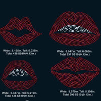 Lips rhinestone template digital download, svg, eps, png, dxf - rhinestone templates