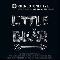 Little bear rhinestone template digital download, svg, eps, png, dxf - rhinestone templates