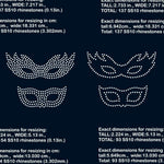 Masquerade Mask Carnival Mask Mardi Gras mask rhinestone template digital download svg eps ai png dxf - Digital file