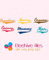 Mommy, grandma, granma, granny, mom in  svg, dxf, png,format. Instant download - rhinestone templates