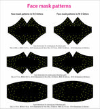 3 any sorority Face mask rhinestone templates digital download, ai, svg, eps, png, dxf - rhinestone templates