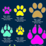 Paws Vinyl and rhinestone template, svg, eps, png, dxf - rhinestone templates