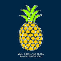Pineapple Vinyl and rhinestone template, svg, eps, png, dxf - rhinestone templates