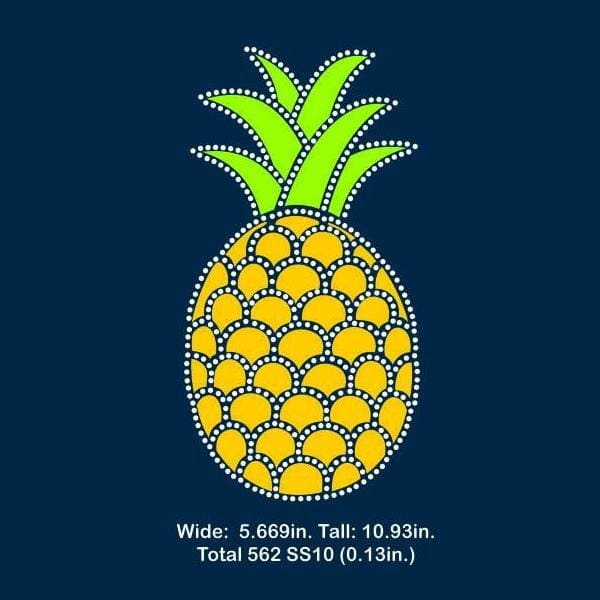 Pineapple Vinyl and rhinestone template svg eps png dxf - Digital file