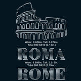 Roma, Rome, Colosseum rhinestone template digital download, svg, eps, ai, png, dxf - rhinestone templates