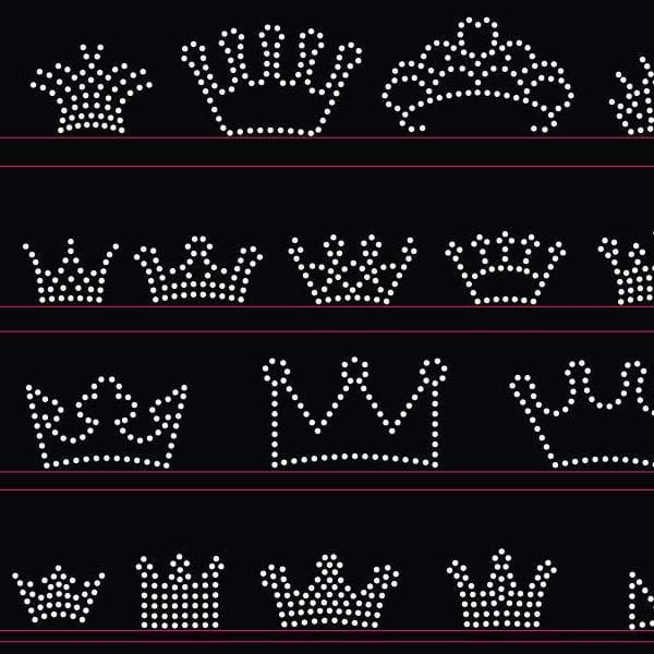 Small crowns rhinestone templates digital download, svg, eps, png, dxf - rhinestone templates
