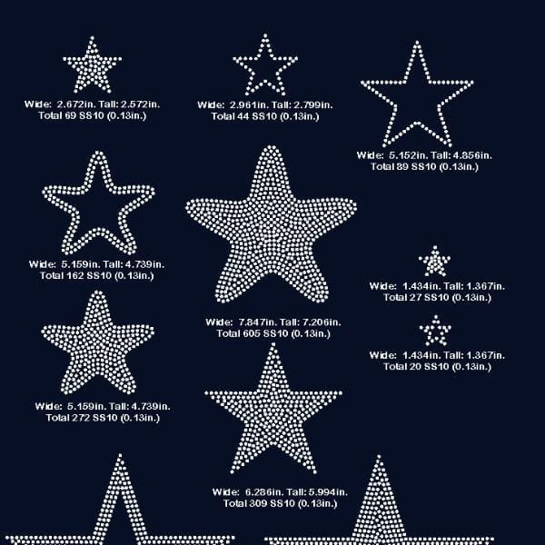 Stars , star rhinestone digital download, svg, eps, png, dxf - rhinestone templates