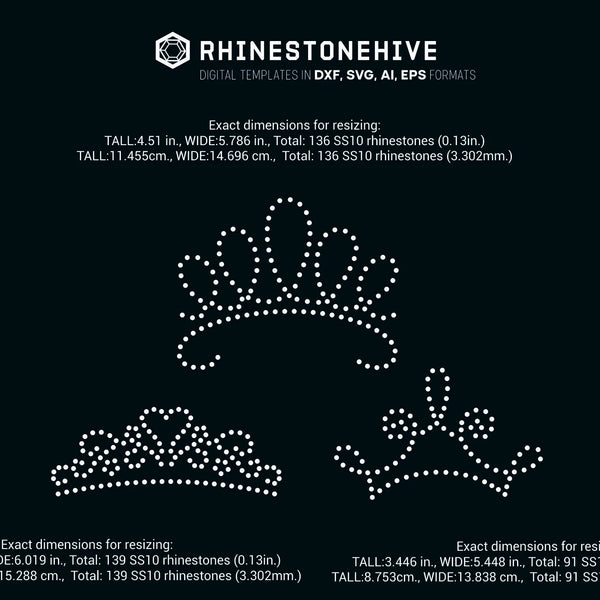 FREE until Monday Tiara, tiaras rhinestone template digital download, svg, eps, png, dxf