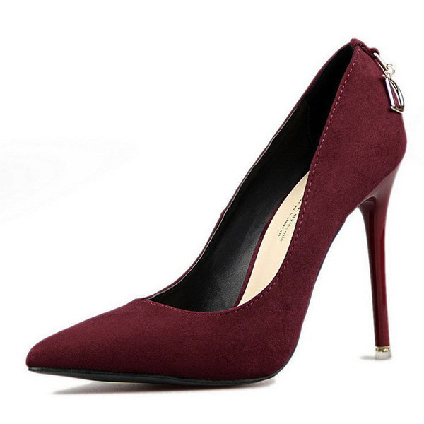 2016 Women Pumps Brand Women Shoes High Heels Sexy Pointed Toe Red Wedding Shoes