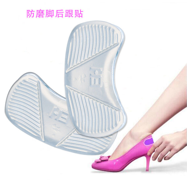 2017 Silicone Heel Pads Transparent Massage Foot Pad Shoe Accessories heel foot cushions Insoles For Women Insoles Soles