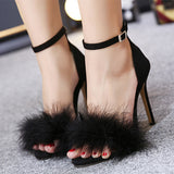 Elegant Women Sexy High Heels Pumps Brand Shoes 2017 Newest Woman's Red Sandals Heels Shoes Wedding Shoes 11cm 35-40 Size Black