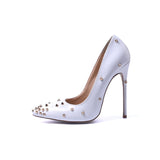 Irregular Rivets Fashion Elements Thin High Heel Sexy Women Shoes Zapatos Mujer New Unique Design High Heel Same With Superstar