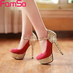 Free shipping 2017 new Sexy Women Pumps Lady Prom Shoes Spring Wedding  high Heels Summer Shoes gold Glitter Pumps PS57