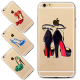 New Fashion Women High Heel Phone Cases Cover for iPhone7 7Plus Soft Silicone Protector Cover Fundas Bag Capa Cases Dropshipping