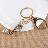 Gold Plated Hollow Out High heel Shoes Keychain Purse Bag Buckle HandBag Pendant For Car Keyring Holder Women Best Gift  AZL-672