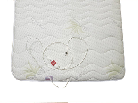 Far Infrared therapy underblanket- mattress topper with Aloe Vera cover